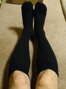 早速、「足の冷えない不思議なくつ下」 を着用
