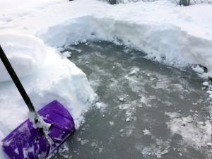 職場近くの積雪
