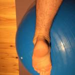足首を伸ばすストレッチ