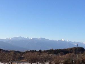 今年も山がきれいに見えました♪