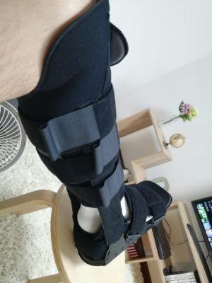 くんくんさん[男性、31歳、東京都、手術]のアキレス腱断裂用装具