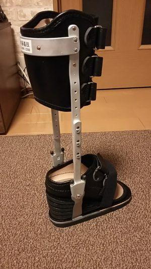 つくしさん[女性、43歳、茨城県、保存]のアキレス腱断裂用装具