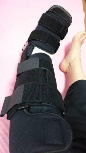 はちさん[女性、39歳、茨城県、手術]のアキレス腱断裂用装具