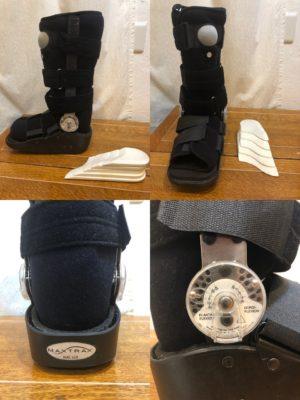 ハリイスミスさん[男性、53歳、埼玉県、保存]のアキレス腱断裂用装具