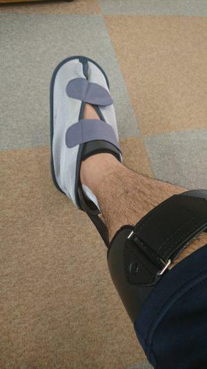 豆たんくさん[男性、31歳、兵庫県、手術]のアキレス腱断裂用装具