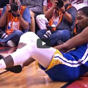 ケビン・デュラント(NBA)が右足アキレス腱断裂!